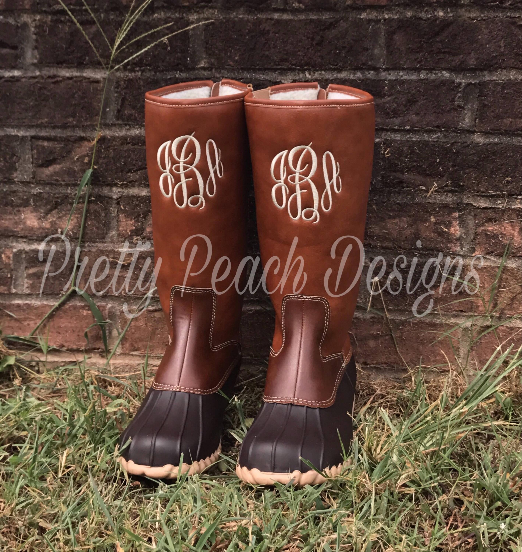 9cec15ed0c24 Monogram Duck Boots Mid Calf Boot Rain Boot Monogram Shoe