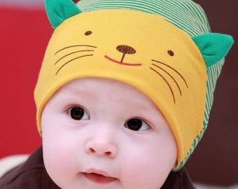 Cat ears, cotton baby Hat beanie