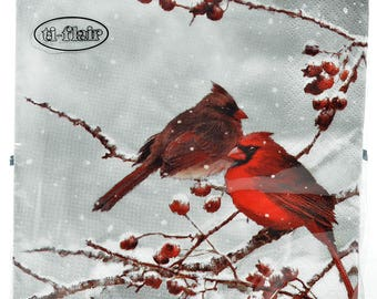 paper towels patterned birds and paper towels theme winter, Valentine's Day