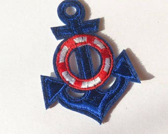 Anchor fabric sewing patch applique