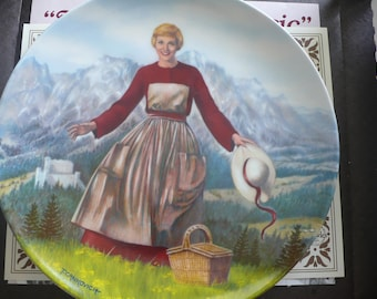 The Sound of Music - Julie Andrews - Vintage Bradford Exchange Plate (circa 1986)