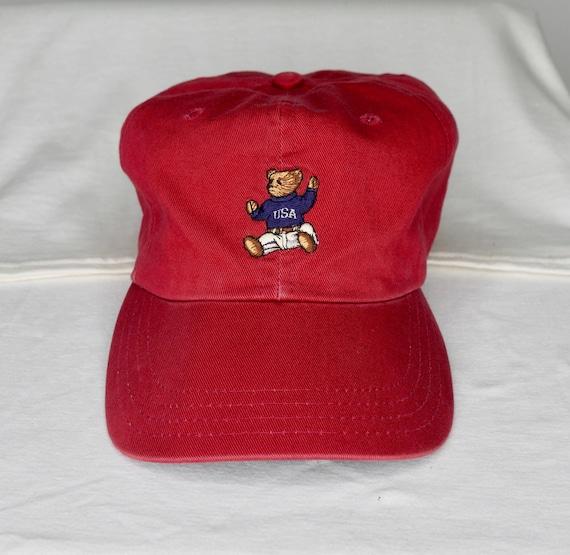 vintage polo bear cap polo stadium pwings lolife sailing ralph  c46362c4057