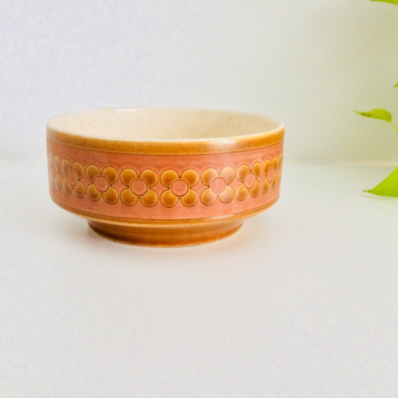 Hornsea cereal bowl  Hornsea Saffron bowl  vintage ceramic cereal dessert bowl  small Hornsea bowl