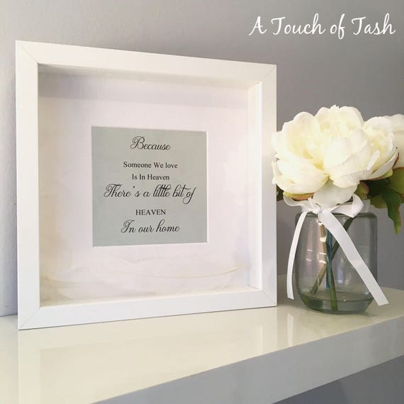 Heaven Frame Breavement Sympathy Gift Loss Thinking Of You Etsy