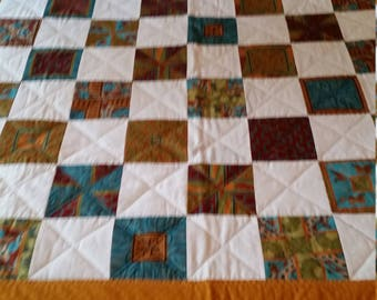 Twin bed quilt - Multi coloured