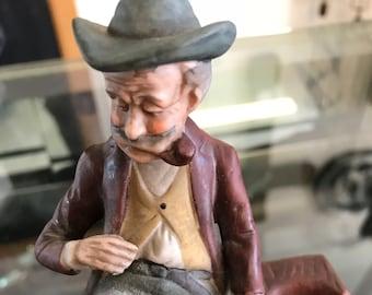 Vintage Old Man Statue