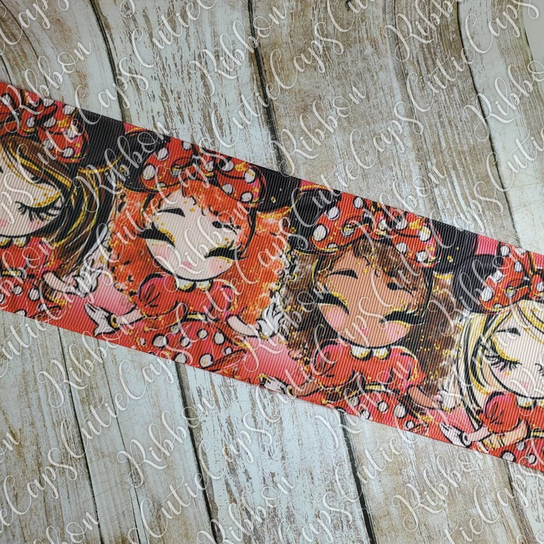 1.5in and 3in Mouse girls ribbon 5 yard rolls 78
