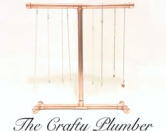 Copper Jewellery Stand - steampunk vintage - Birthday Gift.