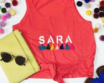 Painted name on shirts