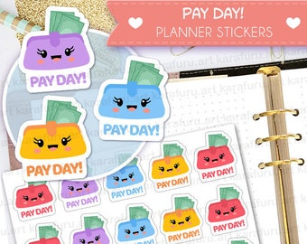 Pay Day Planner Stickers - Financial Stickers - Cute Planner Stickers - Filofax Stickers - Erin Condren Stickers - Diary Stickers
