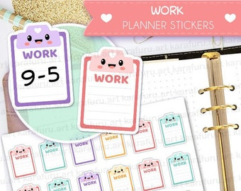 Work Day Planner Stickers - Work Hours Stickers - Cute Planner Stickers - Filofax Stickers - Erin Condren Stickers - Diary Stickers