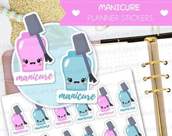Manicure Planner Stickers - Nail Polish Stickers - Cute Planner Stickers - Filofax Stickers - Erin Condren Stickers - Diary Stickers