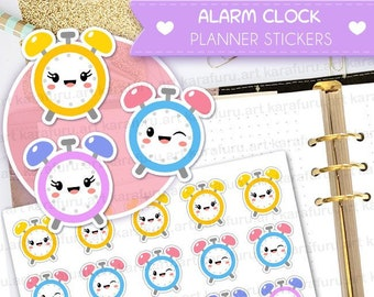 Alarm Clock Planner Stickers - Clock Stickers - Cute Planner Stickers - Filofax Stickers - Erin Condren Planner Stickers - Diary Stickers