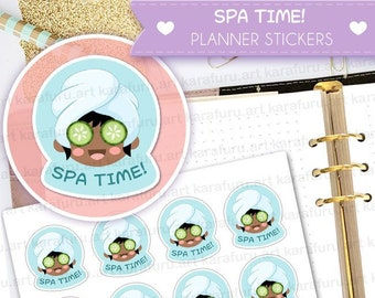 Spa Day Planner Stickers - Spa Time Stickers - Cute Planner Stickers - Filofax Stickers - Erin Condren Stickers - Diary Stickers