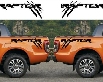 Ford Raptor Vehicle Graphic Velociraptor Pick Up Tailgate Side Rear Truck Decal