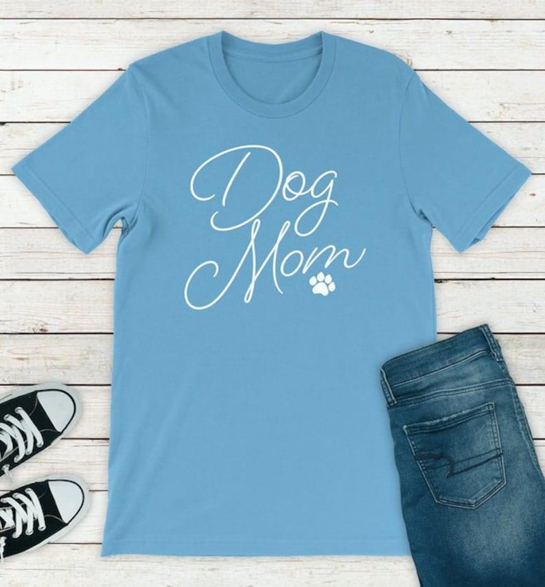 b2c6cd52 Dog Mom Crazy Dog Lady Dog Mother Wine Lover Dog Mom Shirt | Etsy