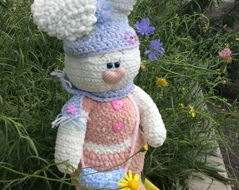 Knitted Bunny, amigurumi