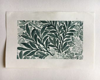 Watercolor Painting - Leaf Pattern