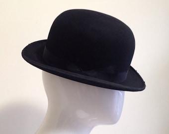 cef6670add8 Vintage Antique Bowler Hat  Charlie Chaplin Hat