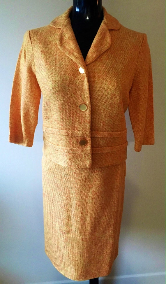 1960s Vintage Tweed Suit, Tweed jacket, women's vi