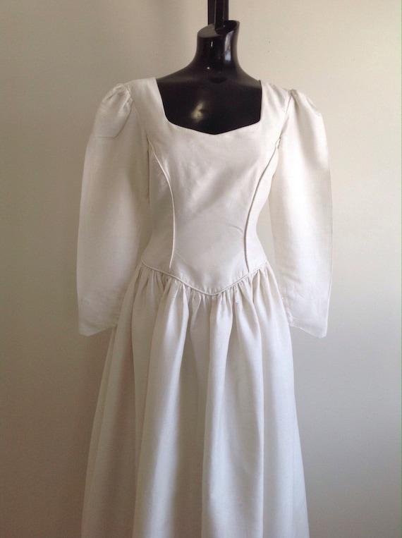 Vintage Raw Silk Gown, vintage wedding gown