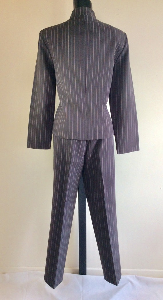 Vintage Scarlett Pinstriped Two Piece Pant Suit - image 3