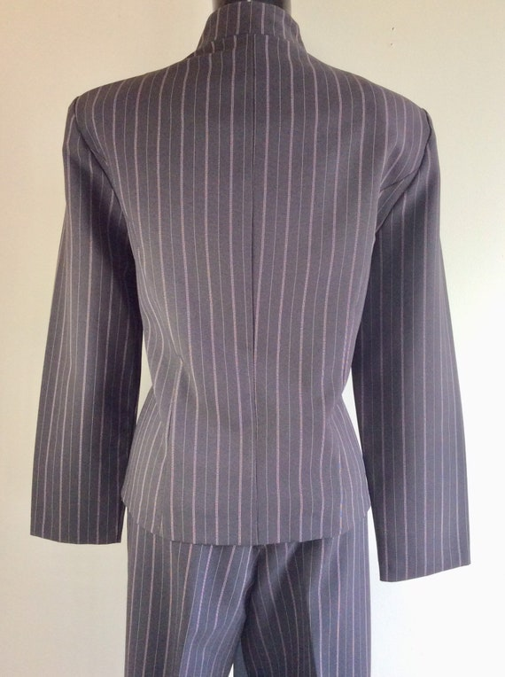 Vintage Scarlett Pinstriped Two Piece Pant Suit - image 4