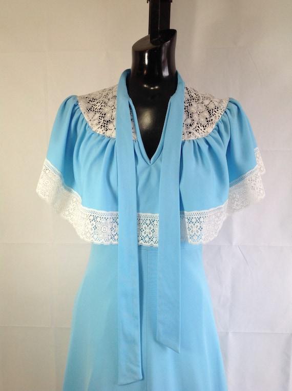 Light Blue 70's Dress