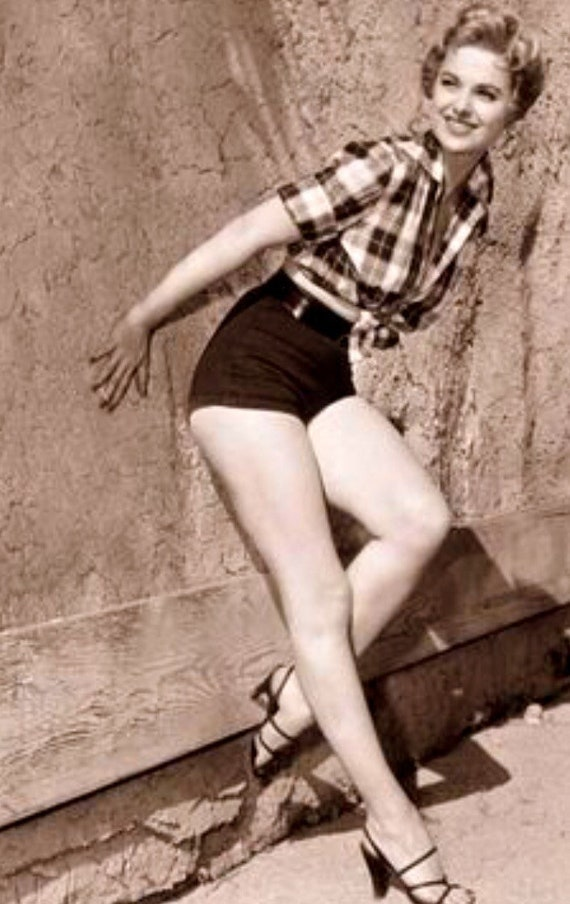 Black Medium wheight Cotton Shorts, Pinup Shorts,