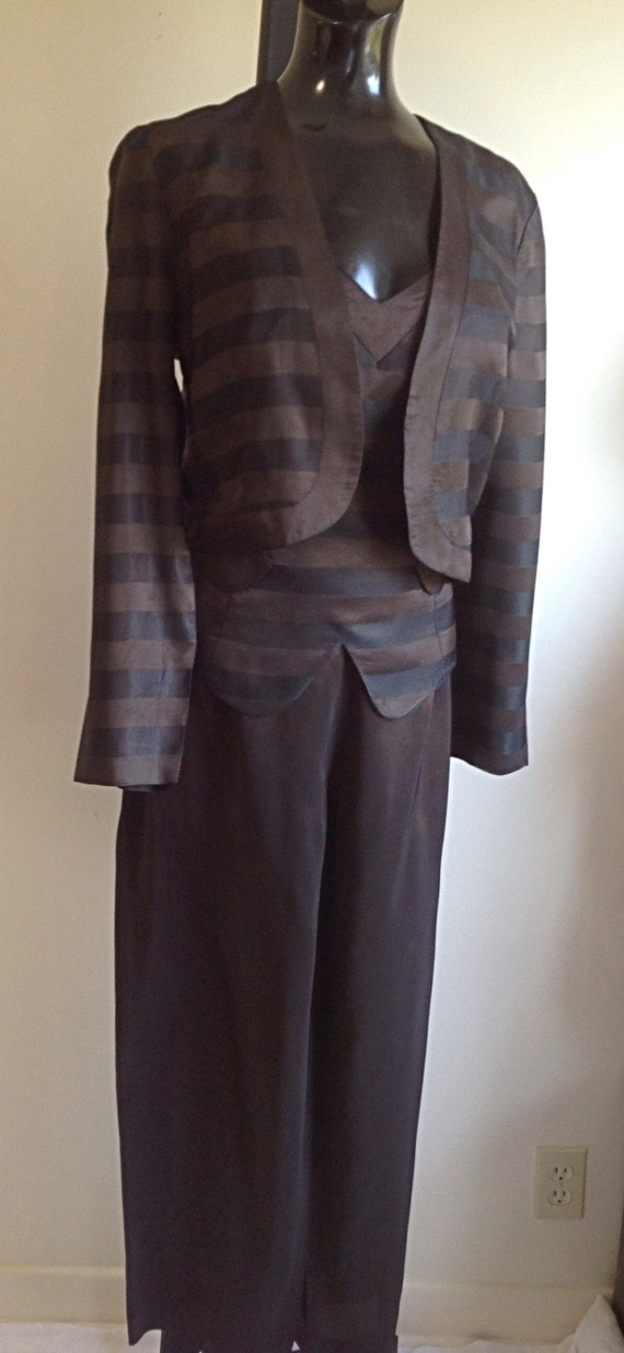 1980s Vintage pant suit, Great Disco outfit ,Slee… - image 3
