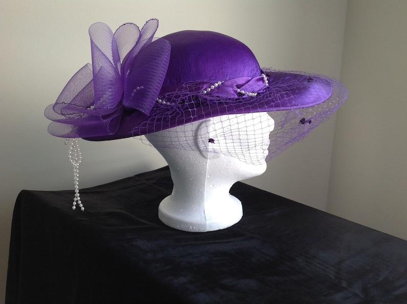 d78205e1bde81b Vintage Fancy Purple Ladies Hat Wedding Occasion Hat Purple | Etsy