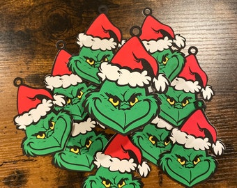 Grinch Gift Tags Etsy