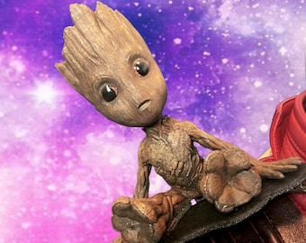 3D Printed Guardians of the Galaxy Volume 2Baby Groot Shoulder Puppet//Moveable Baby Groot//Hand Painted Groot Puppet