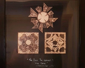 Hellraiser Lament Configuration boxframe with quote