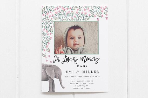 Children Funeral Program Template Child Funeral Program Etsy