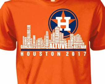 cbc7e578408 Houston Astros Skyline T-shirt  Houston Astros  World Series Champs