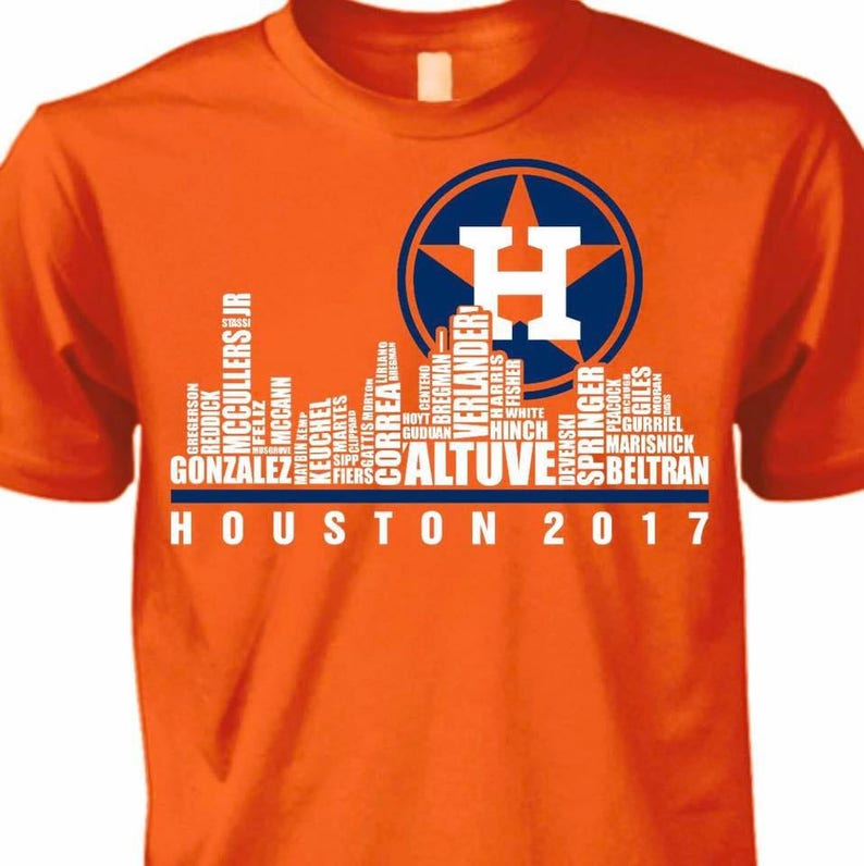online retailer 905bb 8bd54 Houston Astros Skyline T-shirt/ Houston Astros/ World Series Champs
