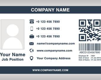 employee id badge etsy