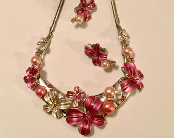 Statement Necklace and Ear Clips