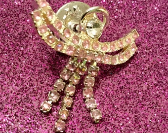 Pink Rhinestone Angel Pin