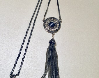 Navy Blue Jewel Pendant