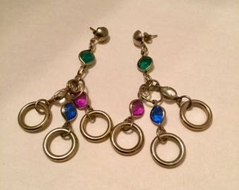 Jewels and Hoops Dangle Earrings