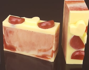 5.0 oz Pomegranate Lemon Goats Milk Glycerin Soap