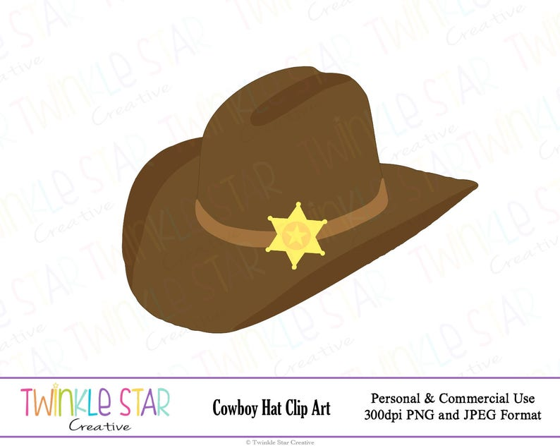 a9061fcd59c INSTANT DOWNLOAD Cowboy Hat Digital Clipart Cowboy Party