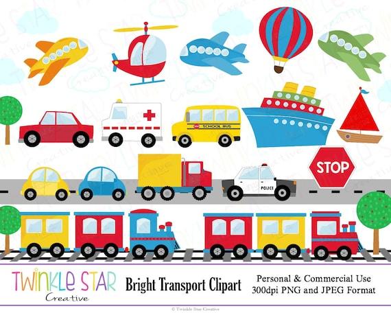 INSTANT DOWNLOAD Transport Clipart Transportation Digital