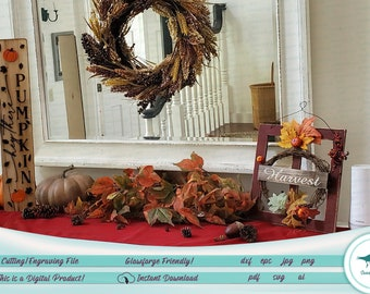 Hey There Pumpkin - Fall Decor - SVG File; Glowforge Passthrough Tested!