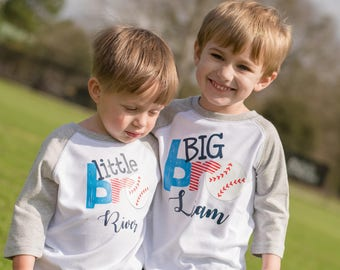 BIG BROTHER LITTLE Brother Shirt / Big Brother Shirt / Little Brother Onesie / Baseball Brother Shirt / Baseball Brother / Big Brother Gift