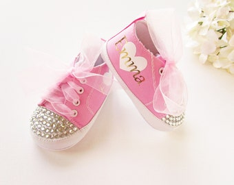8f942b485 BABY BLING SHOES   Personalized Baby Shoes   Baby Shoes for Girls    Personalized Baby Shower Gift   Cute Baby Shoes   Designer Baby Shoes
