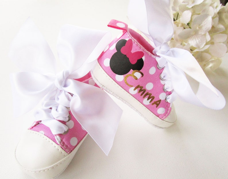 036c85788755 PINK BABY GIRL Shoes   Minnie Mouse Sneakers Baby