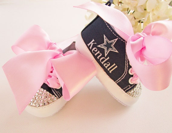 buy online 01738 21b1d Dallas Cowboys Baby Girl Shoes, Dallas Cowboys Baby Girl Outfit, Baby  Sneakers, Baby Shower, Football First Birthday Outfit, 1st Birthday